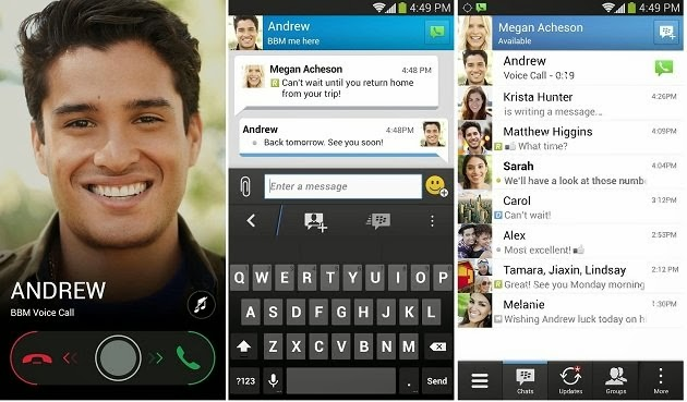 Enjoy Chats, Voice calls, picture sharing, voice notes and more on BBM App