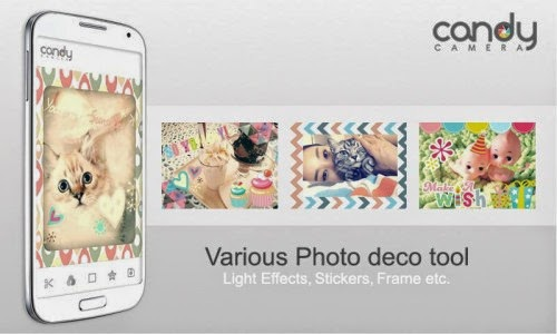 Candy Camera - Selfie Camera for taking selfies on Android