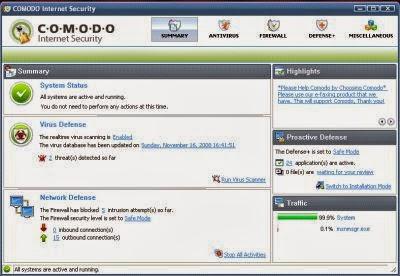 comodo antivirus free windows server 2008