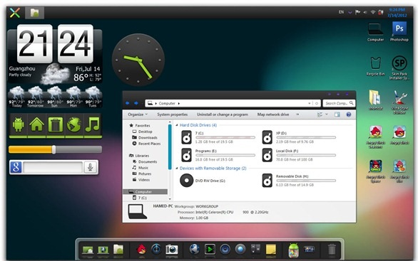 Change Windows 7 Into Android Jelly Bean 4.2 Like Look