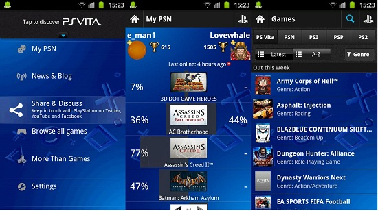 Sony Play Station Games On Android Phone With Play Station Mobile