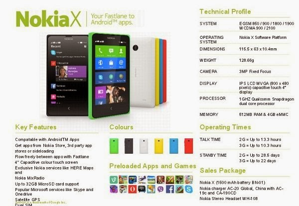 Nokia's First Android Phone specification and features launched in India with price Rs. 8500