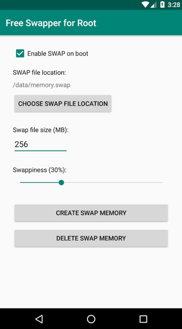 Swapper for root screen