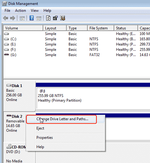 change a drive letter if your seagate drive not showing up