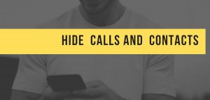 hide call logs contracts sms